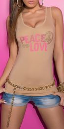-50 % Peace & love toppi, beige